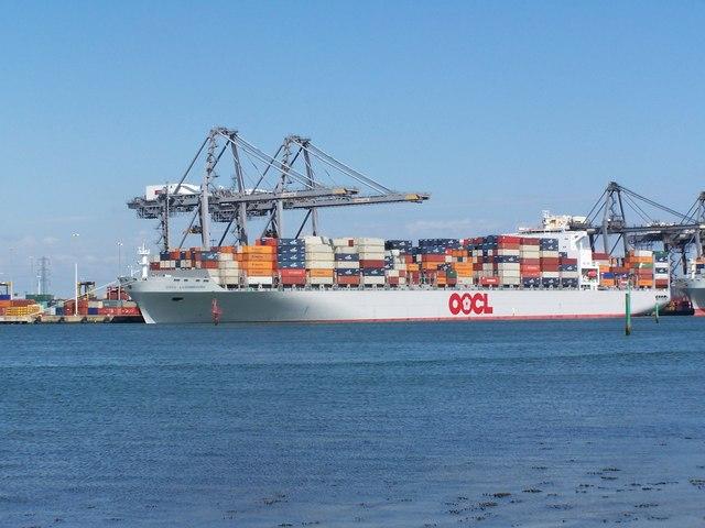 Container ship, Southampton Docks
