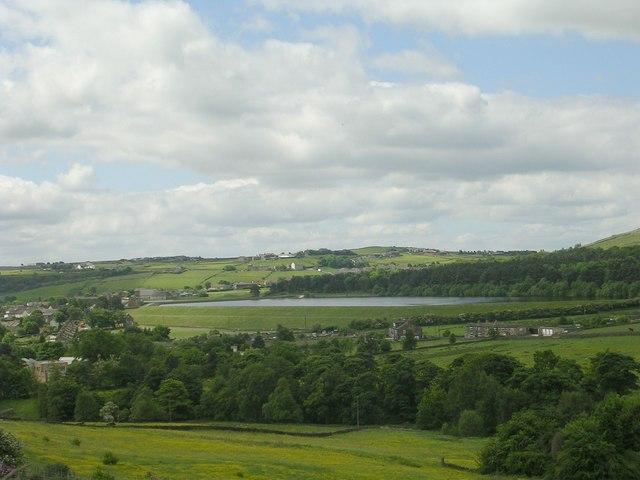 Mixenden Reservoir - viewed from Lane Head Lane