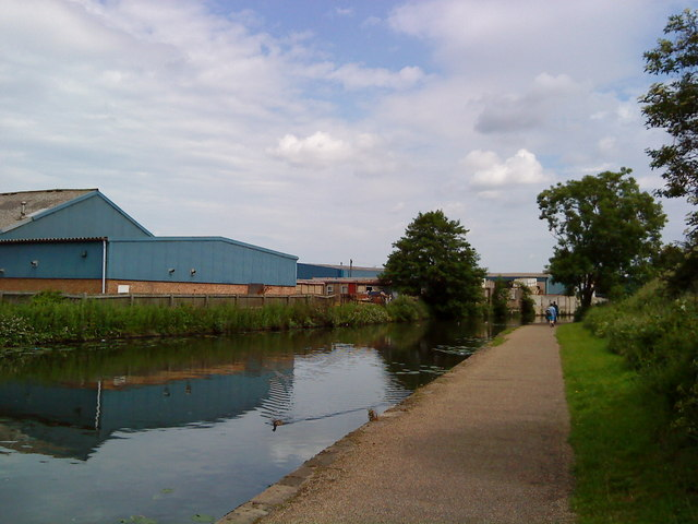 Industrial buildings adjacent to the Beeston Canal