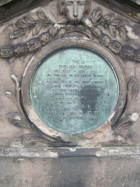English  Bridge  plaque  giving  brief  history
