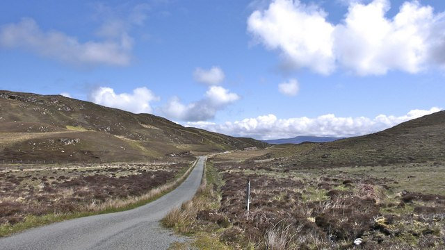 The road to the north of Raasay in the direction of Brochel