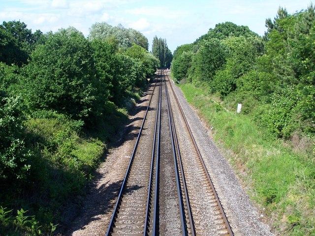 Bournemouth to Southampton railway line