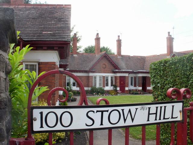 Closeup of Queen Victoria Memorial Almshouses, Stow Hill, Newport
