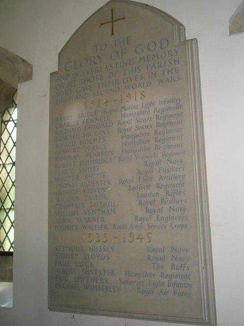 Christ Church Forestside- war memorial