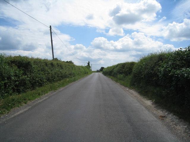 View along a country lane
