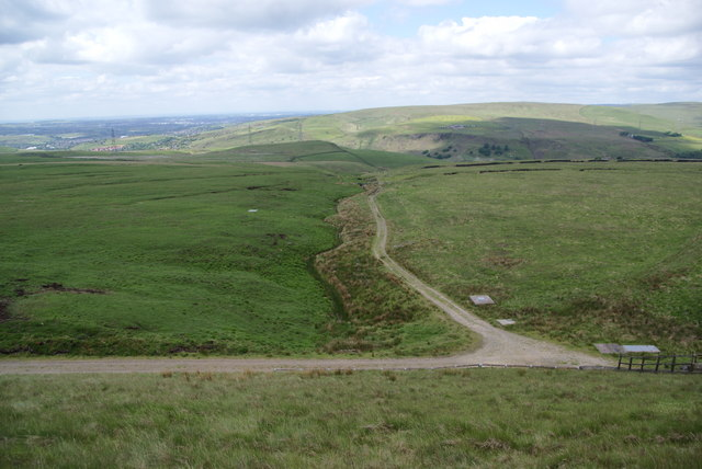 Track and gully below Warland Reservoir