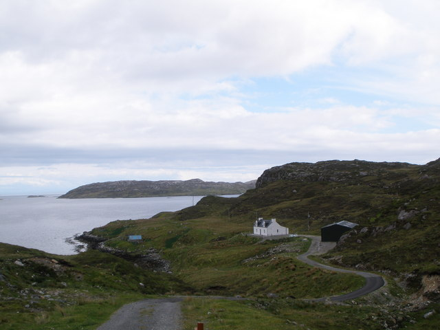 Private road leading to the house at Ceann Dibig