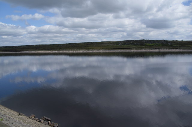 Sky reflected in Warland Reservoir