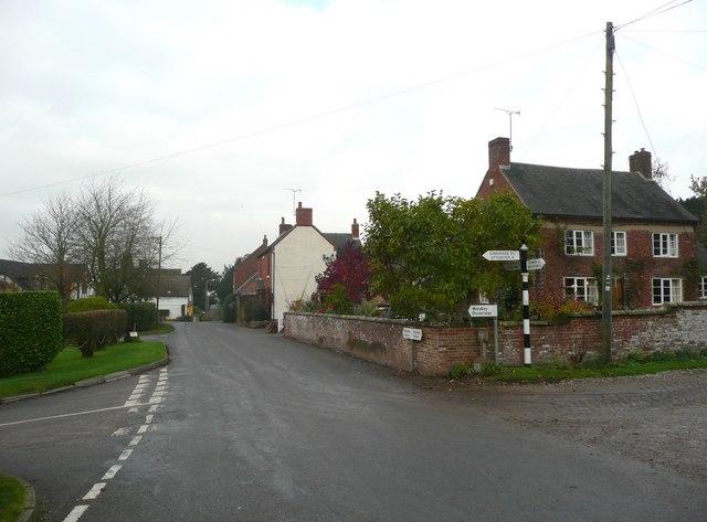 Road junction, Marston Montgomery