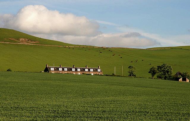 Farm cottages at Morebattle Mains