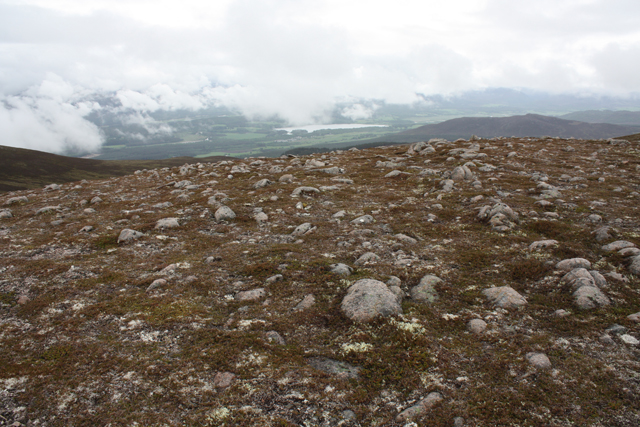 Stony summit of Geal-charn Beag