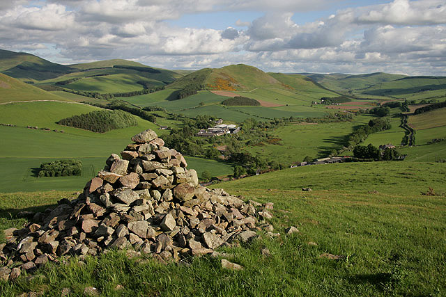 A cairn on Yetholm Law
