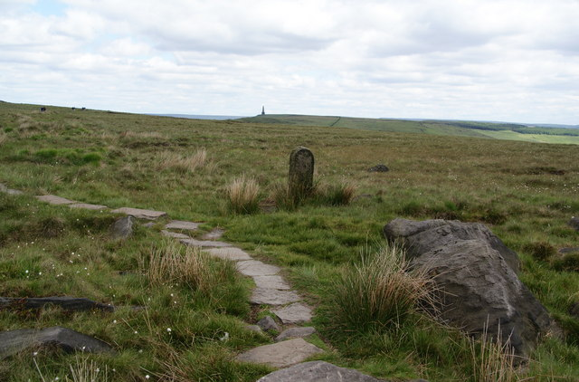 Boundary stone by the Pennine Way
