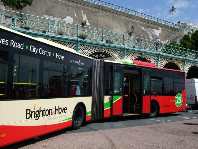 Bendy bus in Brighton