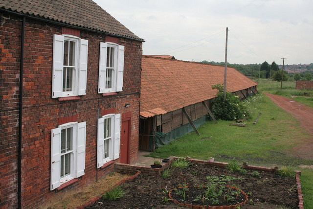Ings Yard tile works, cottage and drying sheds