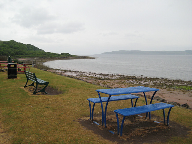Fintry Bay in the rain