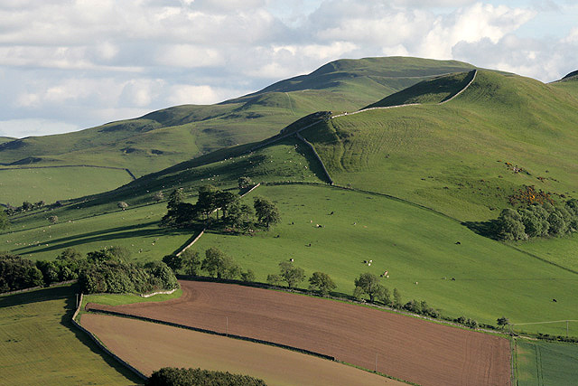 The northeast ridge of Crookedshaws Hill