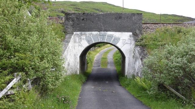 Railway bridge near Glasnacardoch, Mallaig