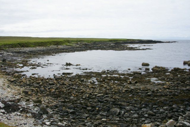 Head of the Wick of Collaster at low tide