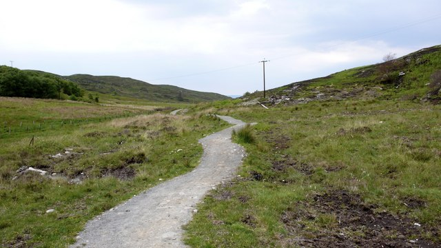 Footpath from Glasnacardoch to Loch an Nostarie