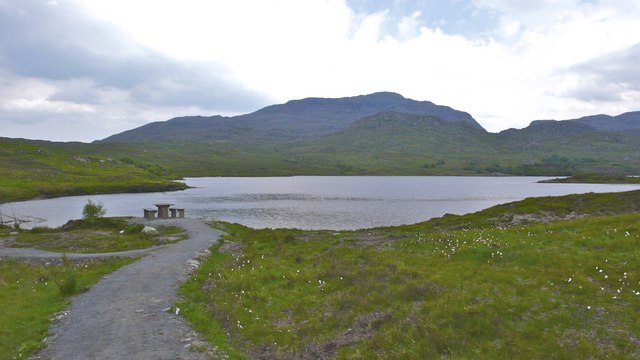 Picnic site at the edge of Loch an Nostarie, Mallaig