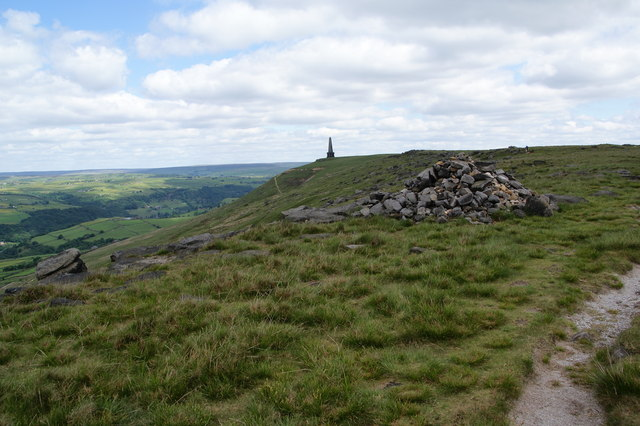 A cairn by the Pennine Way