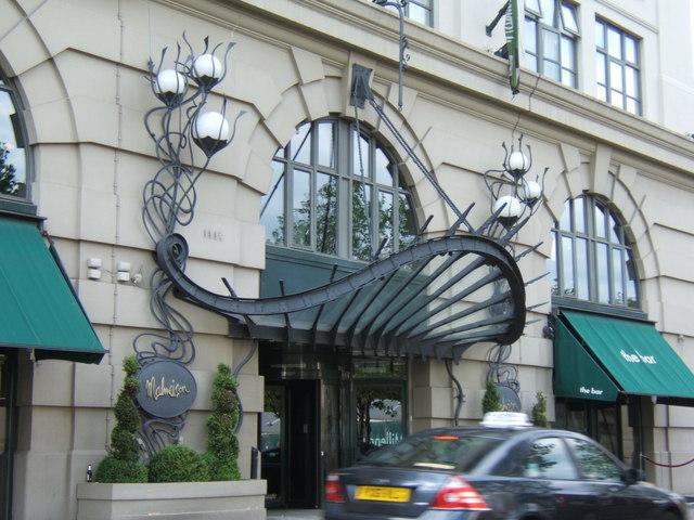 Entrance of the Malmaison Hotel