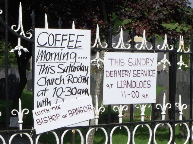Church signs at Carno, Powys
