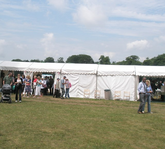 2010 Stansted House Garden Show- entrance and exit tent