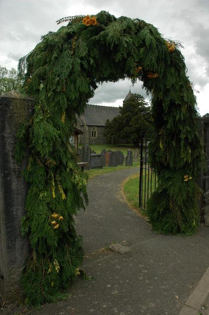 Arched entrance, Trefeglwys Church