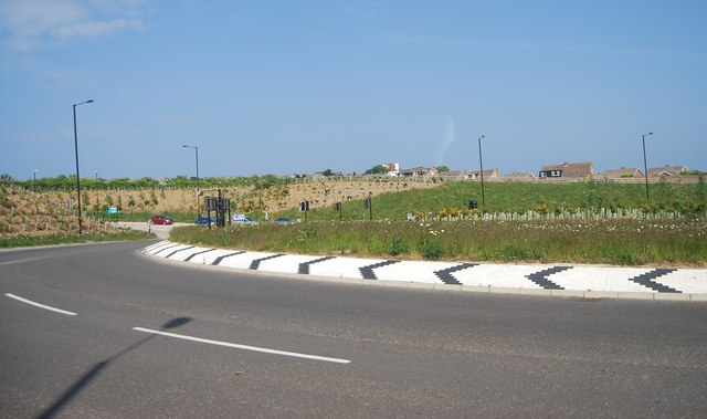 Roundabout on the new Osgodby bypass (A165)