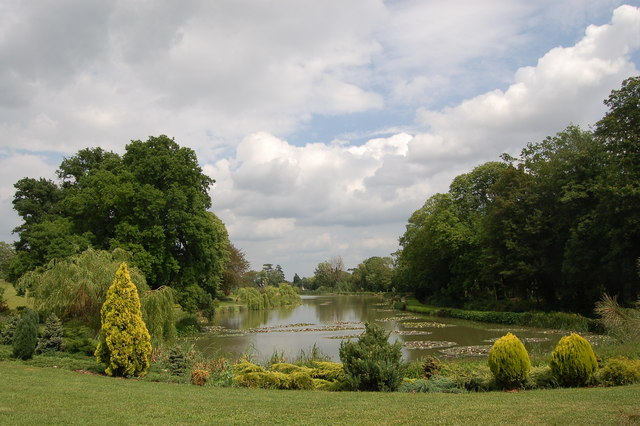 Ornamental lake at Highnam Court, Gloucestershire