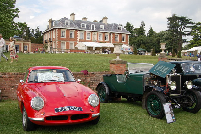 Classic cars at Highnam Court, Gloucestershire