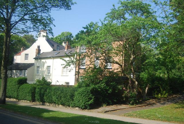 Victorian cottages opposite Peasholm Park