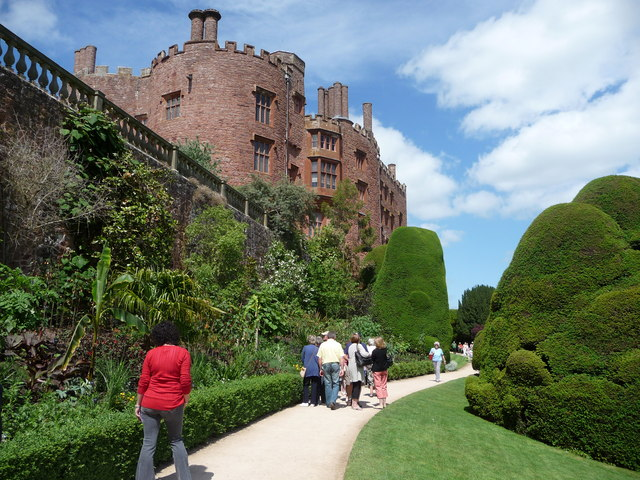 Part of the terraced walkways at Powis Castle