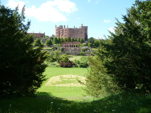 Powis Castle from the south east