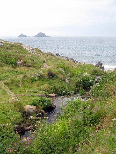 The stream at Porth Nanven