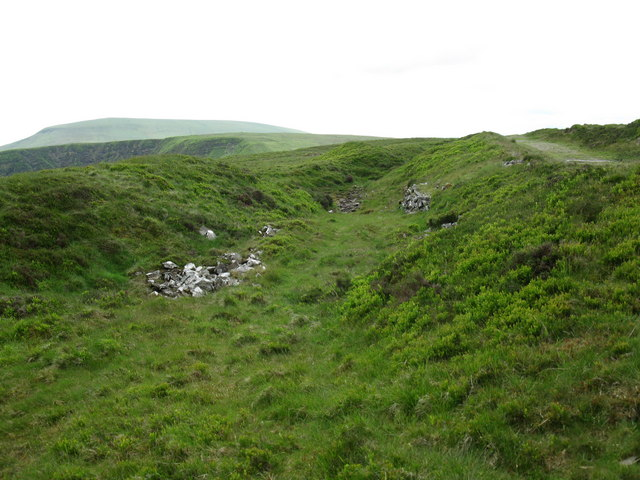 Old workings on Fan Frynych