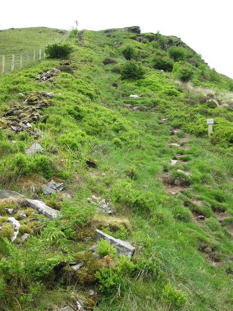Very steep path to Craig Cerrig-gleisiad