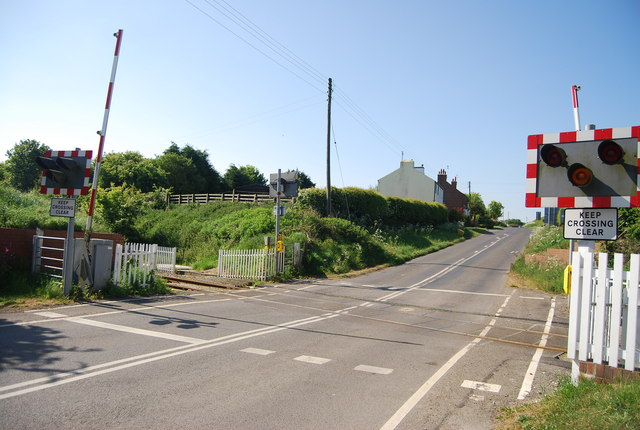 Level crossing by Bempton Station