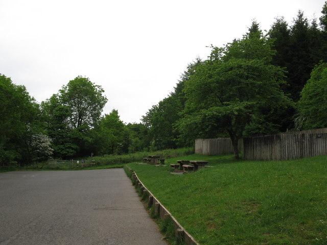 Car park picnic area