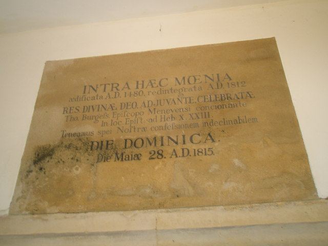 Chapel, Stansted Park- Latin inscription (1)