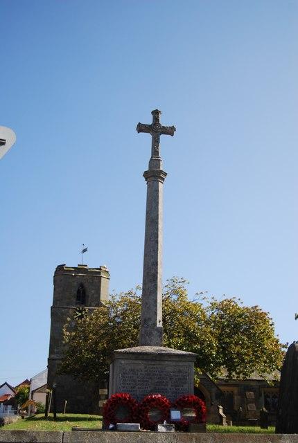 War memorial and Church, Bempton
