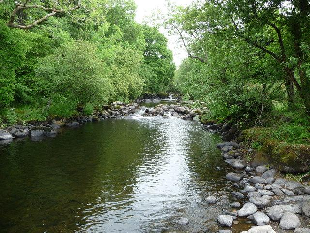 Part of the Afon Dwyfor north of Llanystumdwy