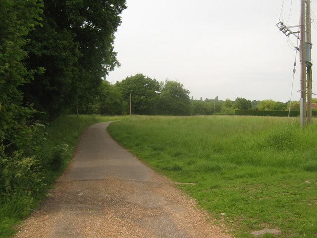 Access road to Belcot Manor Farm