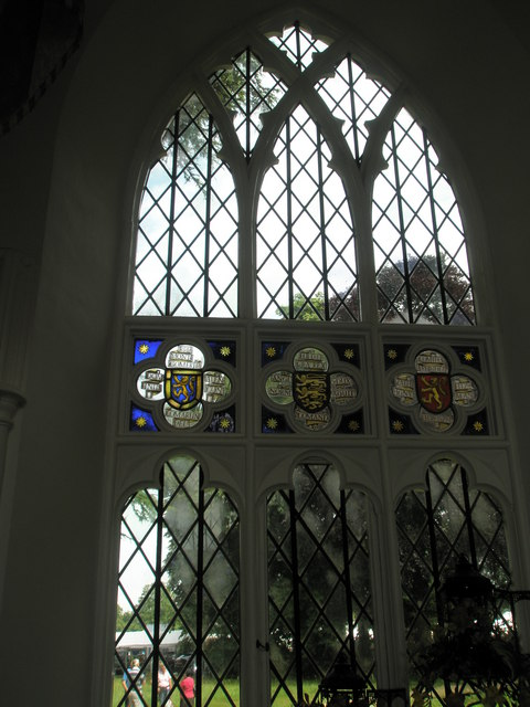Chapel, Stansted Park- stained glass windows (2)