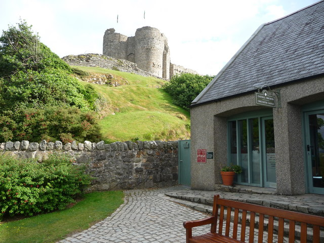 The entrance to Criccieth Castle