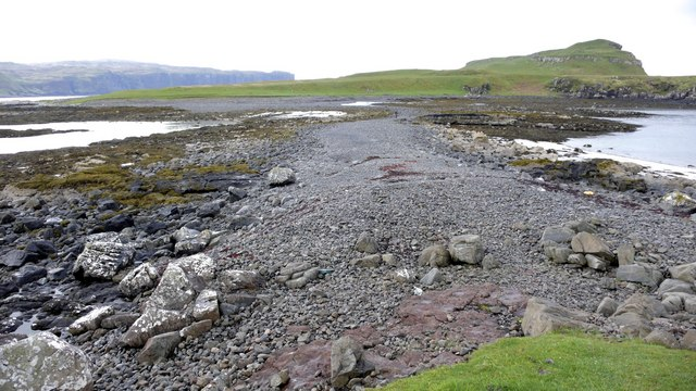 The causeway from Ullinish Point to Oronsay Island, low tide