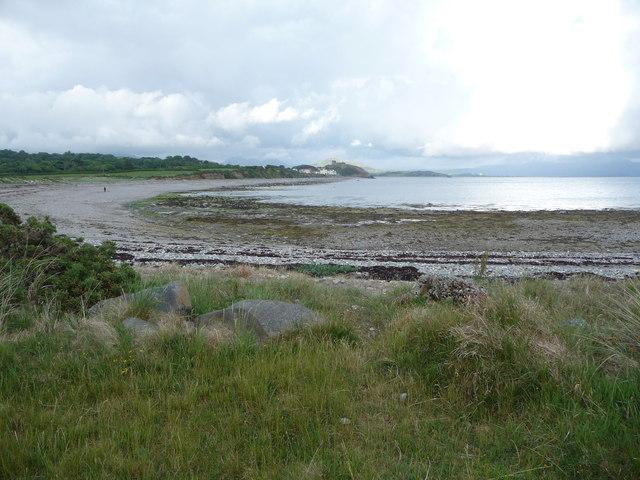 View from the Lleyn Coastal Path towards Criccieth Castle