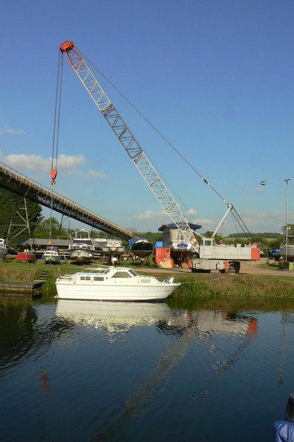 Ferriby Marina crane